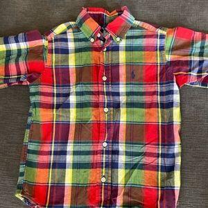 Ralph Lauren Boys Short Sleeve Button Down Shirt
